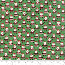 Santa Claus Fabric, Christmas Fabric, Moda, Green, By The Yard, TheFabricEdge