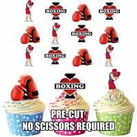 PRECUT Boxing Boxer Themed 12 Edible Cupcake Toppers Decorations Boys Mens