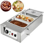 Commercial Electric Chocolate Tempering Machine Melter Maker 3 Melting Pot 12kg