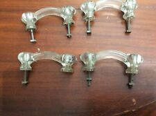 Vintage Glass Cabinet Drawer Pulls Set of 4