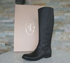 Prada Stiefel Gr 38 Damen boots Schuhe shoes 1W948D schwarz black NEU UVP 1150 €