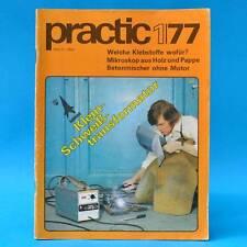 DDR practic 1/1977 Spielplätze Klebstoffe Gartenmöbel Folienzelt Mikroskop M