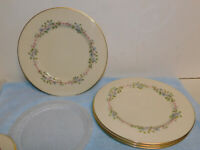 """4 Lenox Bellvidere Dinner Plates 10.5"""" Excellent Cond"""