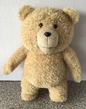 "TED Movie Plush Teddy Bear Talking Stuffed Animal Brown 15"" Long"
