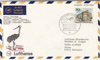 Frankfurt to Osaka Japan  1969 Lufthansa  flight stamps cover r19789