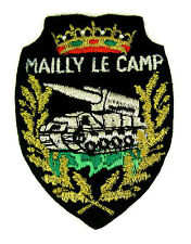 Ecusson brodé militaire ♦ (badge embroidered) ♦ CHAR L.M PLUTON MAILLY LE CAMP