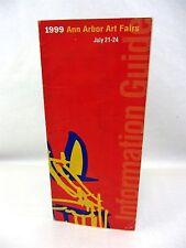"""1999 Ann Arbor Art Fairs Information Guide - crinkled 15.5"""" x 10.25"""""""
