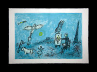 Marc CHAGALL Color Lithograph LIMITED E. no.82 ~Velin d'Arches w/Archival FRAME