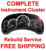 2000-2006 Chevy Tahoe Speedometer Instrument Gauge Cluster Dash Panel REPAIR