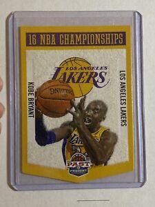 2012-13 Panini Past And Present Championships Banner Kobe Bryant #3 LA Lakers