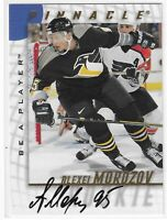 1997-98 PINNACLE ALEXEI MOROZOV BE A PLAYER AUTO #212 PITTSBURGH PENGUINS