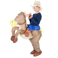 Kids Child Boys Girls Inflatable Cowboy Costume Outfit Suit Halloween One Size