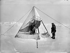 Photo. 1893-4. Arctic Ocean. Sigurd Scott Hansen & magnetic observatory tent