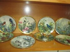 Set 8 Lenox Collector Plates Nature'S Collage Birds & Flowers Catherine McClung