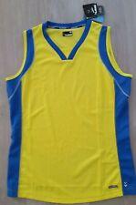Hummel Sporttrikot Achselshirt XL bike shirt maillot jersey camiseta gelb fitnes