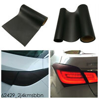 "39""x12"" Tail Brake Light Film Protective Cover Custom PVC Lens Matt Black Tint"