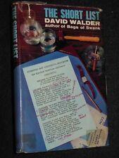 The Short List by David Walder - 1964-1st - Political Humour Novel, Politics, HB