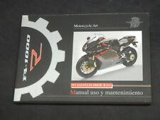 MV AGUSTA F4 1000R - R 1+1  MANUAL USO Y MANTENIMIENTO