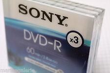 Mini DVD -R disque Sony 8cm 60min Lot de 3 pour camescope 2,8 gb go boite indiv.