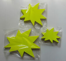 150 Sterne 3 Größen Preisschild Karton Neon Werbung Schaufenster Räumungsverkauf