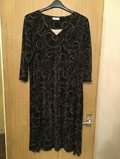 Black Patterned Bonmarche Summer Dress - UK Size 22