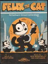 Felix The Cat 1928 Sheet Music