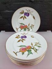 More details for 8 x royal worcester evesham gold dinner plates 25.5 cm 10