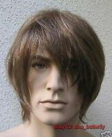 Fashion Handsome Brown Short Straight Healthy Men's/Boy's Hair Wig,Cosplay Wigs