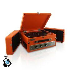 NEW Pyle PLTT82BT Retro Bluetooth Turntable Record Player w/ Vinyl/MP3 Recording
