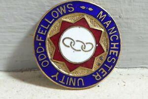 Vintage Manchester Unity Odd-Fellows Oddfellows Enamel Badge