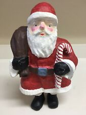 "Paper Mache Santa Clause Christmas Statue Figurine 12 3/4"" Tall"