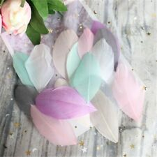 FEATHERS 20 Mixed Soft Pastel Coupe Feather Heads Millinery Crafts FREE UK  P/P