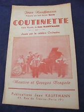 Partition Coutinette Jean Kauffmann Maurice et Georges Trognée Music Sheet