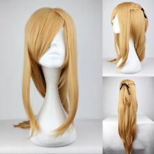 Ladieshair Wig Perücke Blond 90cm lang für Sword Art Online Asuna Cosplay F7T