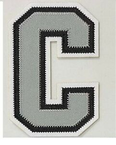 NHL Captain C Patch for LA Kings jersey Gretzky jersey Very Rare
