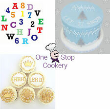 FMM Upper Case ALPHABET Letters & NUMBERS Sugarcraft Tappit Set Cake Decorating