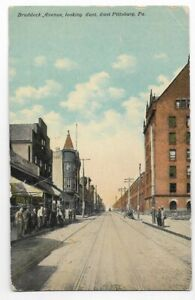 OLYMPIA RESTAURANT,BRADDOCK AVE LOOKING EAST~EAST PITTSBURGH,PA -PM 1916