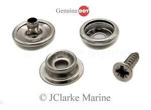 Snap fastener press studs kit 316 marine grade stainless steel canvas to deck