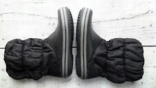 Crocs Winter Puff Boot Black #14614 Comfort Rain Boots Women's Size 6