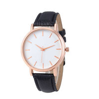 Men And Women's Fashion Leather Stainless Steel Watches Analog Quartz WristWatch