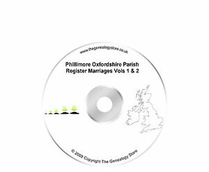 Phillimore Oxfordshire Parish Register Marriages Vols 1 & 2
