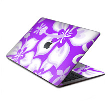 "Skins Wrap for MacBook Pro 13"" Retina Touch, Hibiscus hawaiian flowers  Purple"