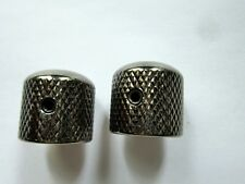 Ibanez Dome Metal Control Knobs in Cosmo Black (Screw Lock Type)