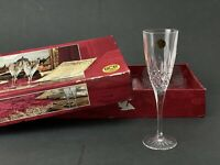 Set of 6 - Vintage Royal Crystal Rock Italia 24% Lead Crystal Champagne Flutes