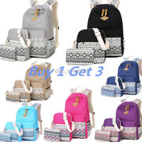 3pcs/Set Backpack Women Canvas Travel Bookbags School Bags for Teenage Girls Hot