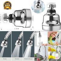 Home Rotatable Faucet Sprayer Head Anti Splash Tap Booster Shower Water Saving