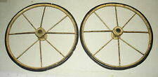 """2 Antique Replacement BABY CARRIAGE BUGGY Wire Spoke Wheel Lot 8"""""""