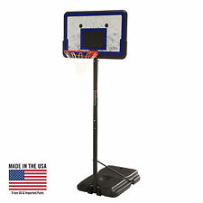 "Portable 44"" Basketball Hoop System Adjustable Height Game Court Outdoor Play"