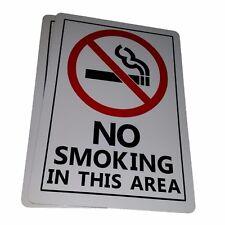 4 x NO SMOKING ZONE SIGN    4 aluminium outdoor signs