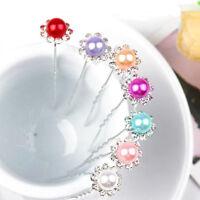 10pcs Fashion Women Wedding Bridal Pearls Hairpin Diamante Hair Clips Hot Gift